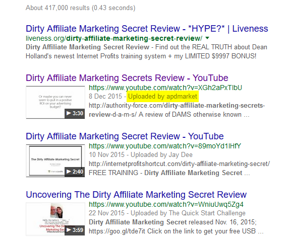 dirty affiliate marketing secret